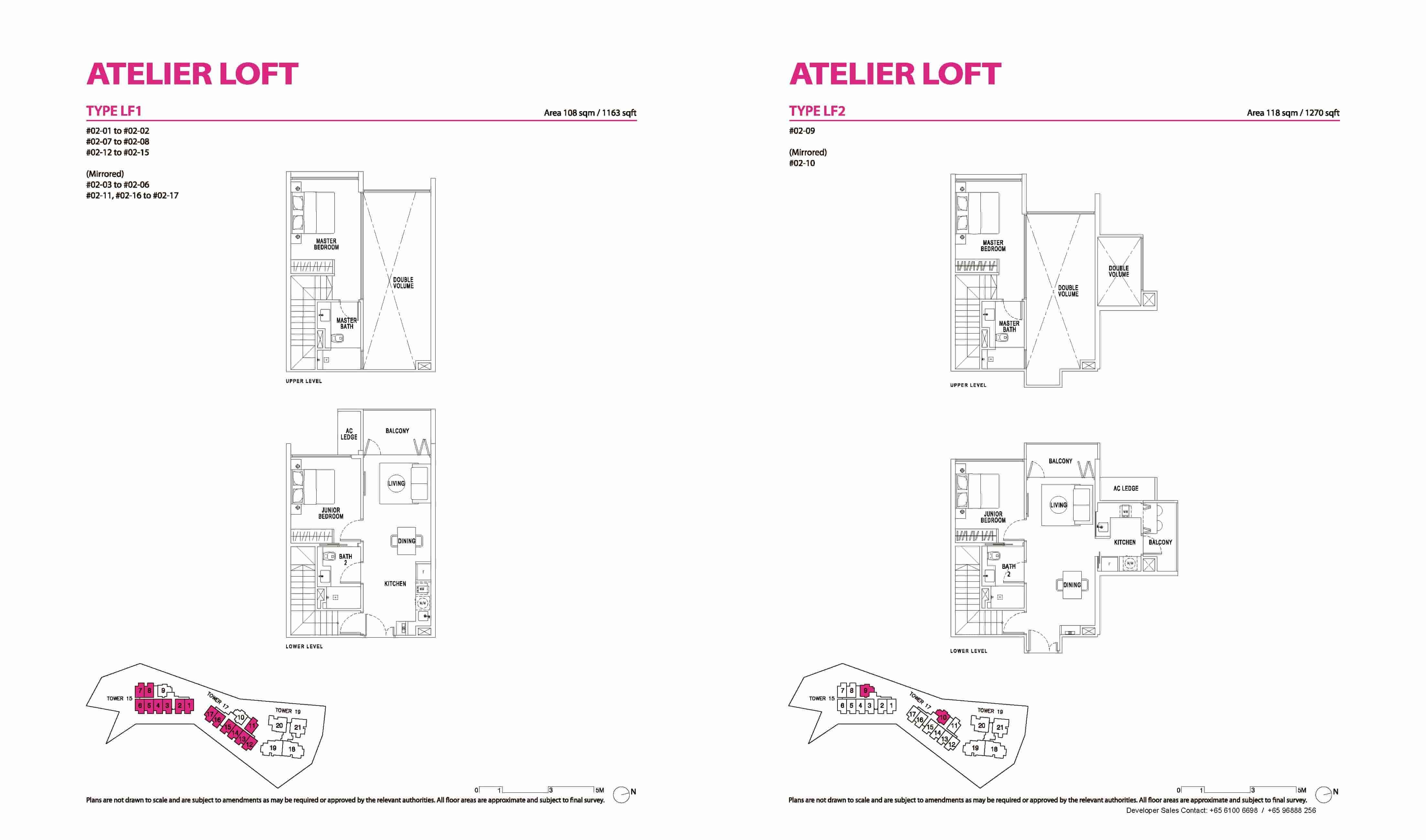 Type LF1 & LF2 2 Bedrm Loft