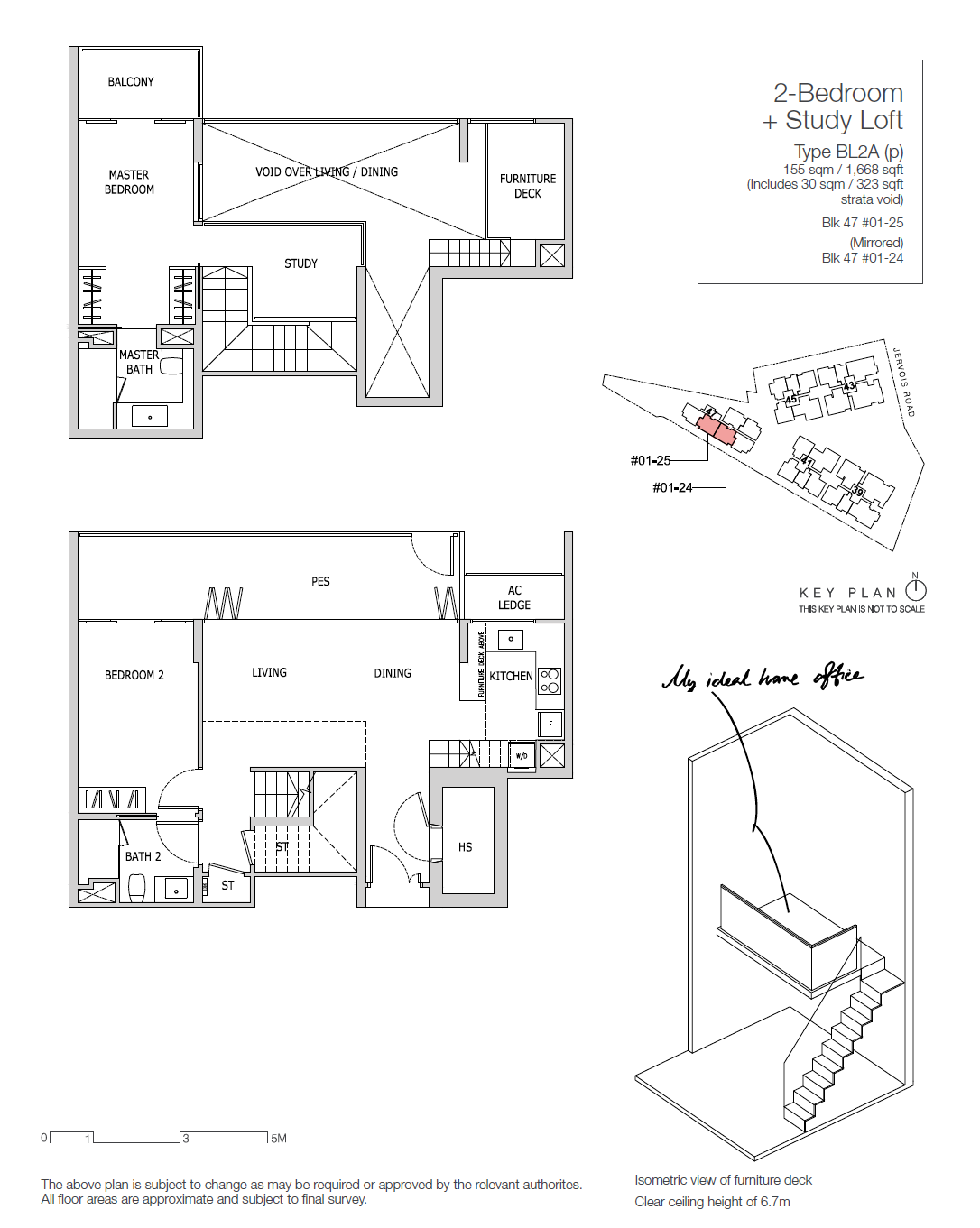 Type BL2A - 2 Bedroom + Study Loft