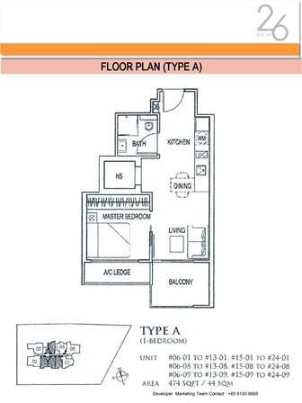 Type A 1 Bedroom