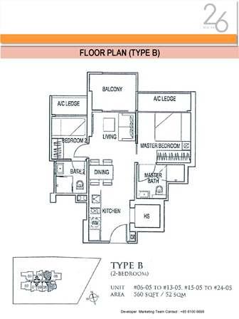 Type B 2 Bedroom
