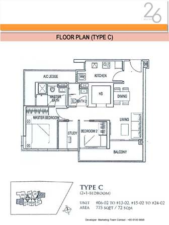 Type C 2+Study Bedroom