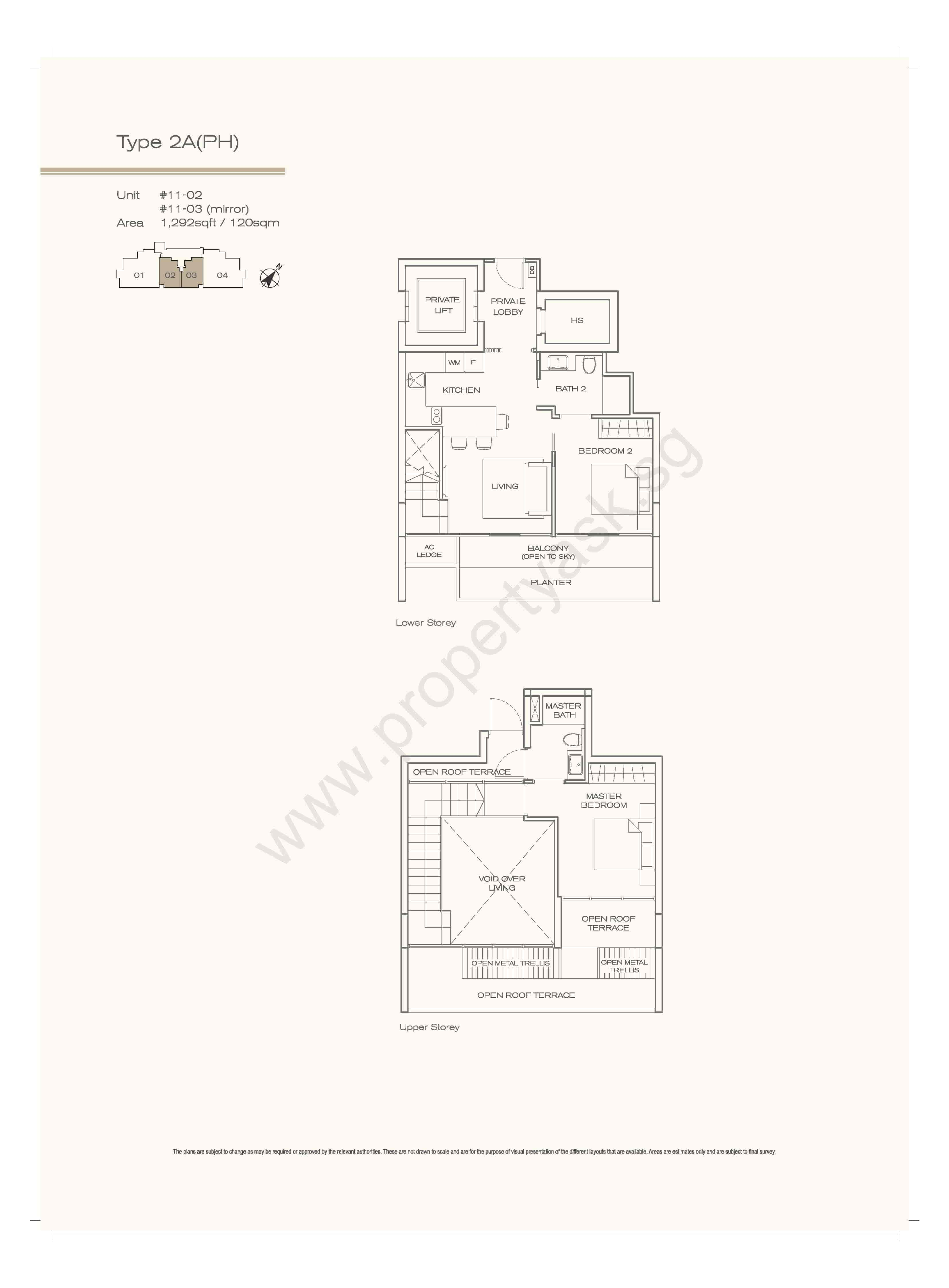 Type 2A - Penthouse 2 Bedrooms