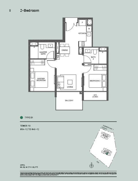 2 Bedroom Type B1