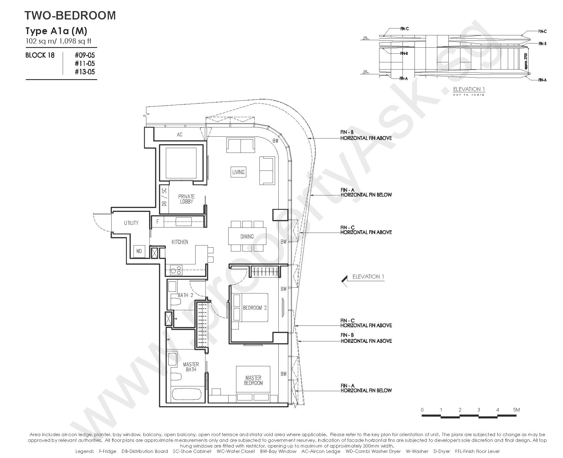 2 Bedroom Type A1a