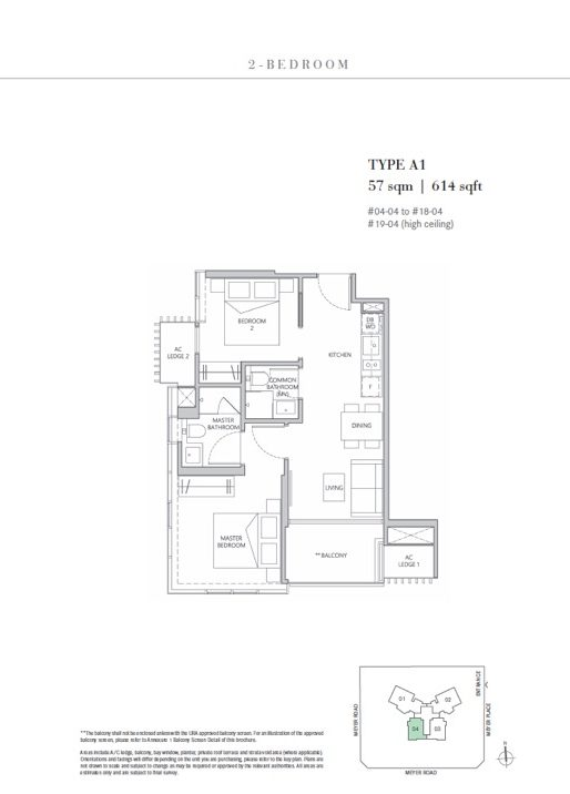 2 bedroom Type A1