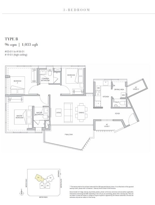 3 bedroom Type B