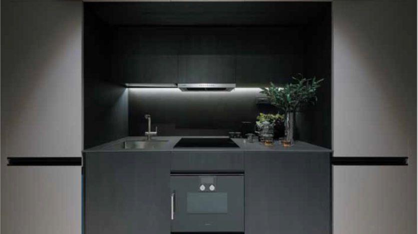 Modern open concept of 3 Cuscaden Kitchen