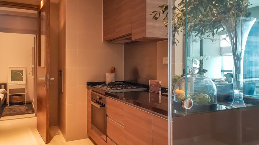 fully equipped kitchen in 3 bedroom unit in 8 st thomas
