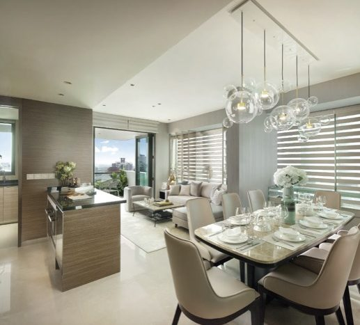 Living and Dinning of 4 bedroom unit in 8 st thomas