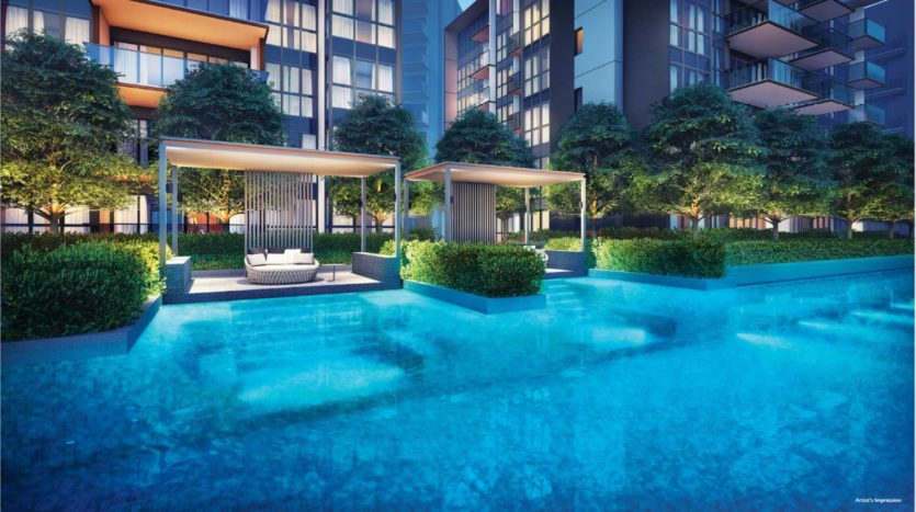 Leisure Pavilion beside the 50M Lap Pool in Fourth Avenue Residences