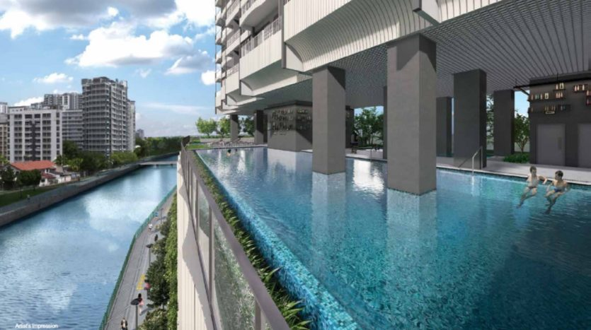 This is the lap pool of JUi residences
