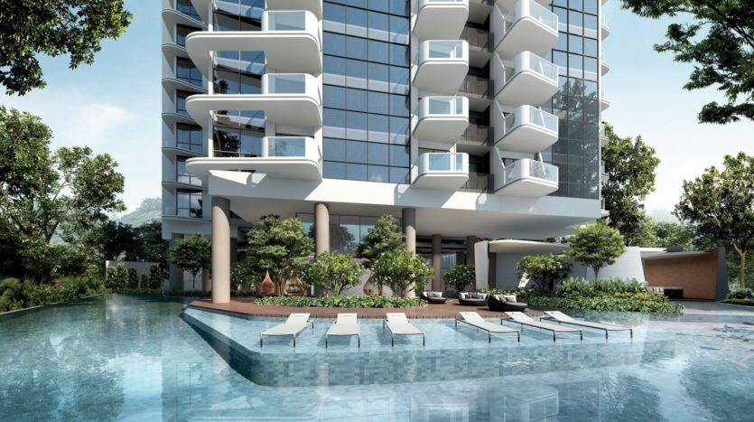 Ground floor with pool at Coastline Residences