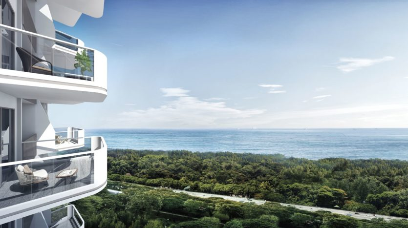 The spectacular view of Coastline Residences