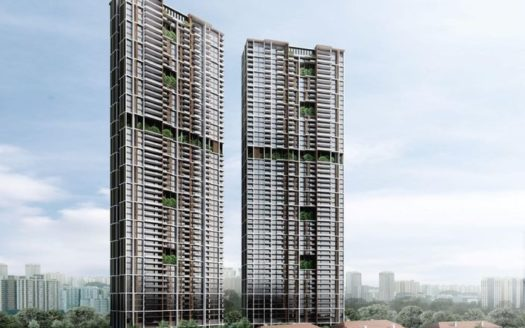 this is the facade outlook from kampong bahru road of Avenue South Residence