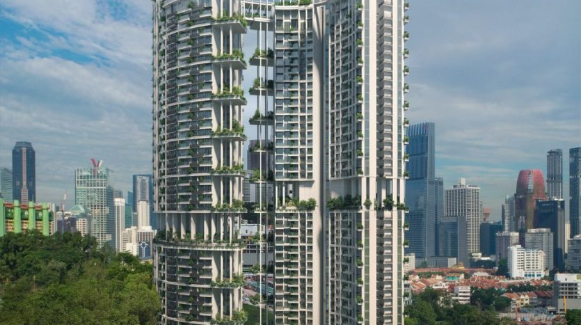 one pearl bank at outram mrt with shenton way central business area just behind