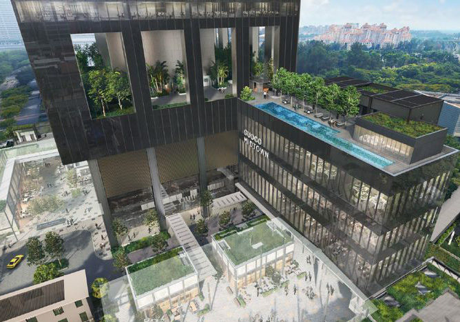 midtown bay social courtyard for commercial and residential use