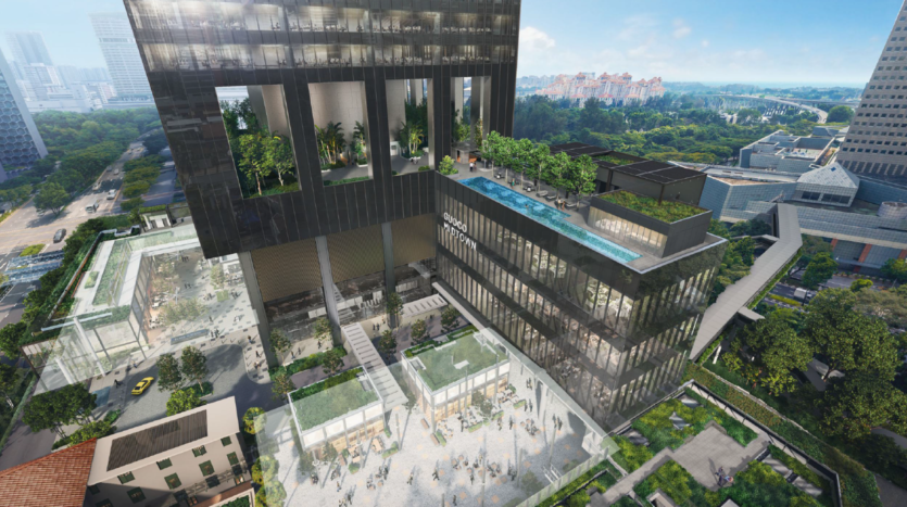 Midtown Bay spacious courtyard for commercial and residential communication