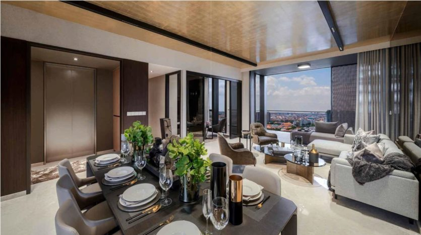 meyer mansion living and dinning for it penthouse unit